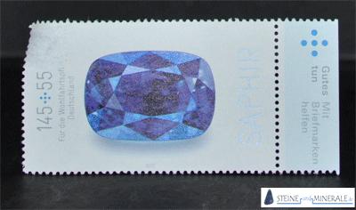 saphir_briefmarke - Mineral und Kristalle